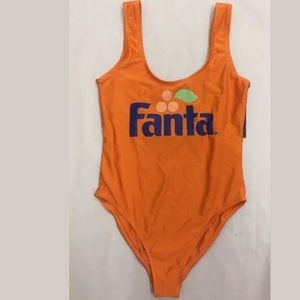 9153c1f081cc3 Coca Cola Swim - Fanta soda beverage Coca Cola one piece swimsuit